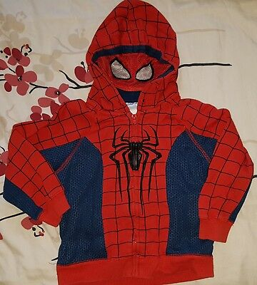 DISNEY Boys Kids Spiderman Cosplay Fancy Costume Hoodie Top