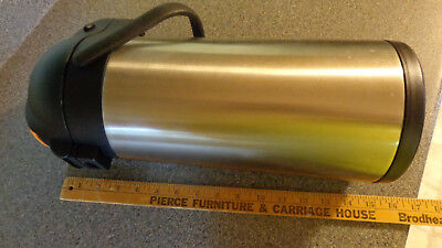 Choice 3 Liter Decaf Air Pot Stainless Steel Lined W/lever Commercial Grade