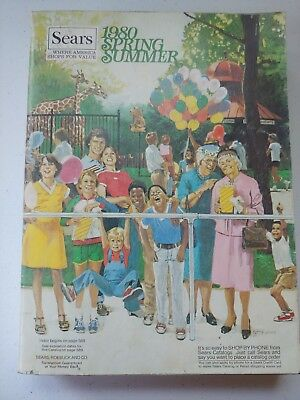 Vintage 1980 Sears Spring Summer Catalog Fashion Advertising