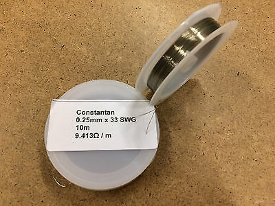 0.25mm x 10m 30 AWG Constantan Resistance Wire
