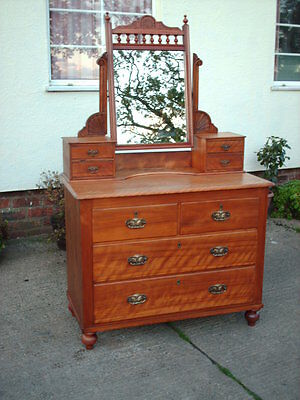Victorian Satin Birch Dressing Table