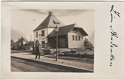 RARE RPPC  Railroad Station Depot RR - Hochscheid Hunsruck Germany 1917 WWI