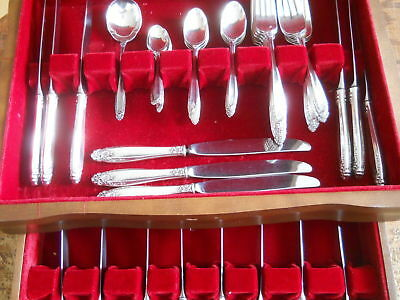 INTERNATIONAL STERLING PRELUDE 51 PC FLATWARE SET w/ Chest