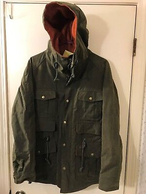 NEW Barbour Wessex Twine Waterproof MWX0354OL51/S Hooded Wax Jacket Size S  NWT