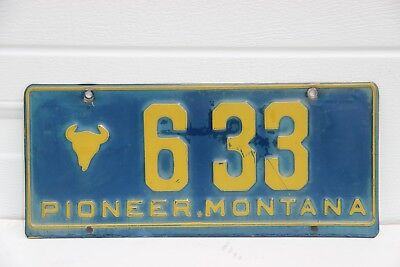 Montana License Plate Pioneer Montana low number 633