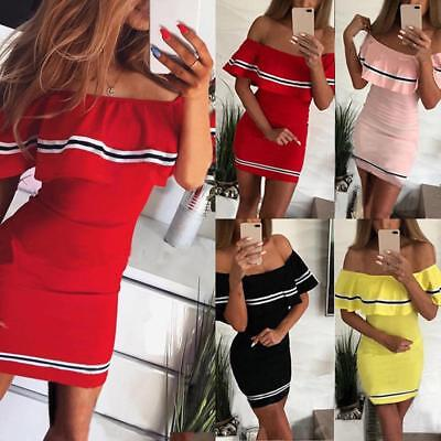 Hot Sale High Quality Sexy Fashionable Off Shoulder Falbala Bodycon Mini Dress