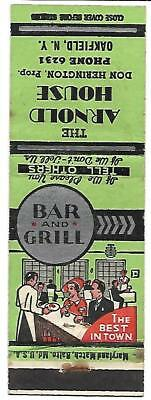 Arnold House Bar  Grill, Oakfield Ny Cover