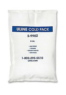 5 - ULINE Cold Packs S-9902 - Colder than Ice - Non Toxic - Reuseable 6 oz.