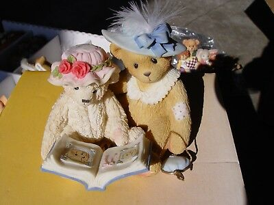 """Cherished Teddies """"things Do Not Change, We Do"""" Tess And Friend Retired Item New"""