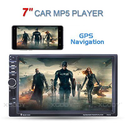 """7"""" Car Stereo Radio MP5 Player Touch Screen FM 2 DIN Bluetooth Navigation 7021G"""