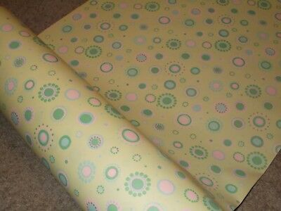 Vtg Easter Store Wrapping Paper Gift Wrap 2 Yards Nos Atomic 1950