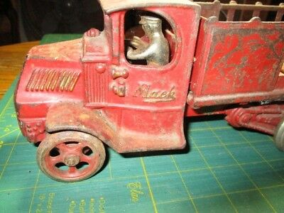 An Arcade Toy decal - Mack truck - 246 - with driver