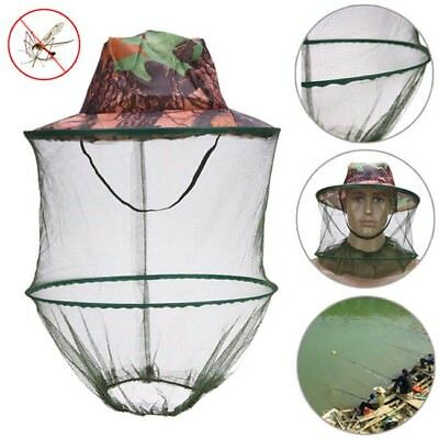 Mosquito Bug Bee Insect Repellent Mesh Net Hat/Cap Head Face Protector Fishing B