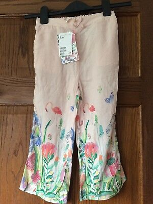 H&M Age 5-6 Yes Girls Summer Trousers Flamingos