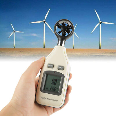 GM816A Digital LCD Handheld Air Wind Speed Meter Anemometer Thermometer Tester
