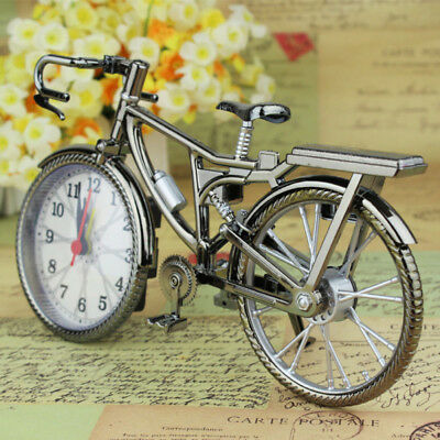 Retro Vintage Style Metal Bike Bicycle Clock Home Decor Table Clock Ornament Kit