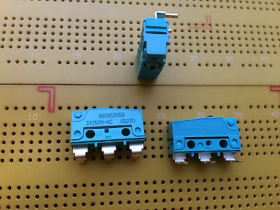 2A 30V SPDT Sub Minature Microswitch AgNi Contacts IP50 ABS451050 SS Multi Qty