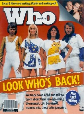 ABBA Aussie WHO Magazine - Cover + 8 Pages + HUGE Advertising POSTER!