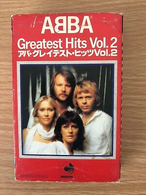 ABBA Greatest Hits Vol. 2 UNIQUE Discomate Music Cassette from JAPAN 1979