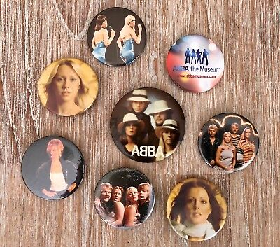ABBA Collection of 8 International Badges/Buttons