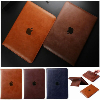 Genuine Soft Leather Smart Flip Stand Case Cover for Apple iPad 9.7 2018 Air