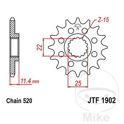 JT Front Sprocket 16T 520 Pitch JTF1902.16 KTM Duke 690 2009