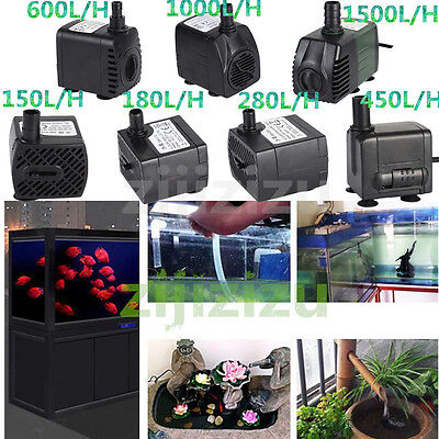 150-1500L/H Submersible Aquarium Marine Fountain Fish Tank Water Pump Hydroponic
