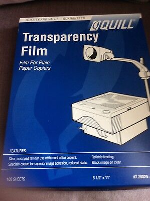 Quill Transparency Film for Plain Paper Copiers Approx. 42 sheets