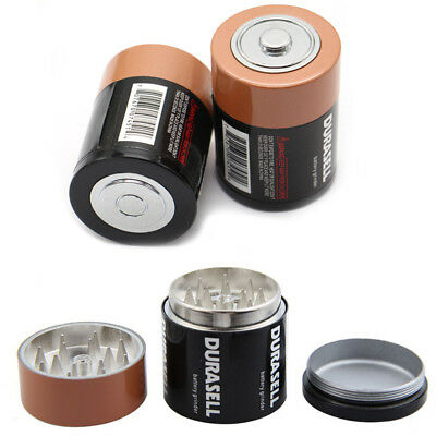 Battery Shape Tobacco Herb Grinder Crusher 3 Layer Hand Muller Mill Novelty Gift