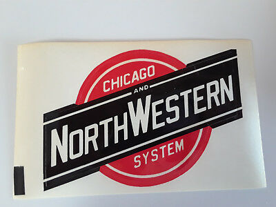 """CHICAGO NORTHWESTERN CNW RAILROAD DECAL Approx 5"""" x 3-1/2"""" - Set of 2"""