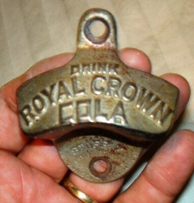 Vintage STARR X Bottle Opener DRINK ROYAL CROWN COLA Brown Co. Pat. 2,333.088