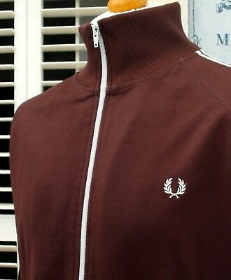 Fred Perry Claret Twin Taped Track Jacket - L/XL - Ska Mod Scooter Casuals Skins