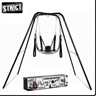 Sexy Toys Extreme Sling and Stand Strict Bondage Fetish BDSM Restraint Leather