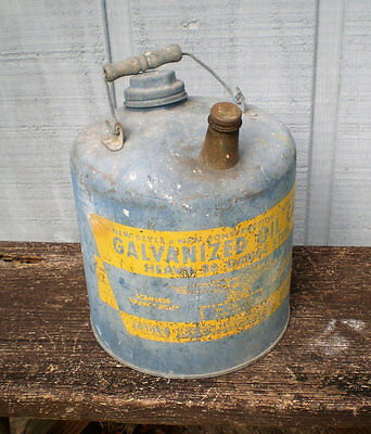 Vintage Galvanized Oil Can-2 gallon Size-Eagle Brand-1940's