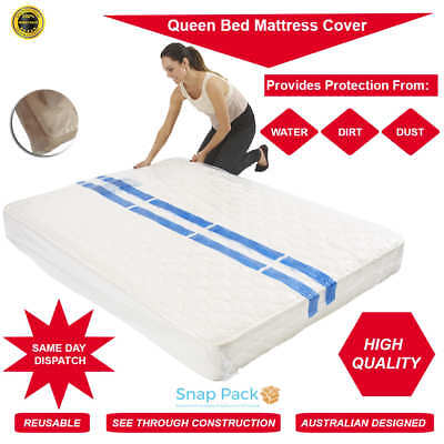 1 x Queen Plastic Mattress Protector Moving & Storage Bag Cover -EXPRESS POSTAGE