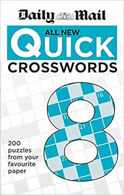 Daily Mail All New Quick Crosswords 8 (The Daily Mail Puzzle Books), New, Daily
