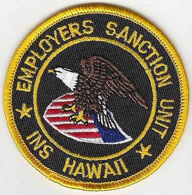 Ins Hawaii Employers Saction Unit Hi Police Patch
