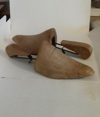 Vintage Wooden Shoe Stretchers With Three Different Settings adjustable.