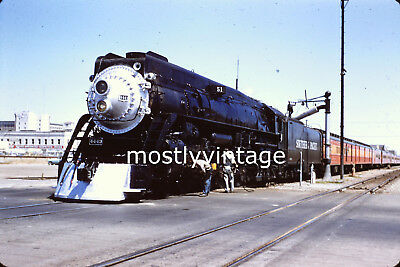 Southern Pacific Railroad Steam Engine 4443 - 6/24/1956 35mm Train Slides