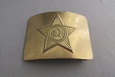 Vintage Soviet Union Ussr Solid Brass Military Belt Buckle