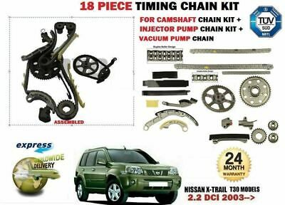 For Nissan X Trail 2.2 Dci 2003-> Timing Chain + Vacuum Pump + Injector Pump Kit