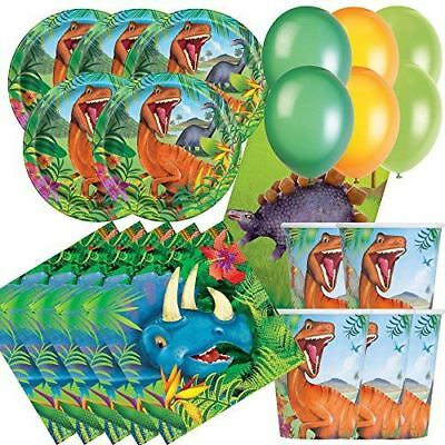 Dinosaur Birthday Party Tableware Decoration Paper Plates Cups Essential Pack