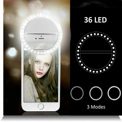 Portable Selfie LED Light Ring Fill Camera Flash For Mobile Phone iPhone Samsung