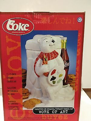 Rare Manufacturer Goof polar bear Coca Cola Cookie Jar