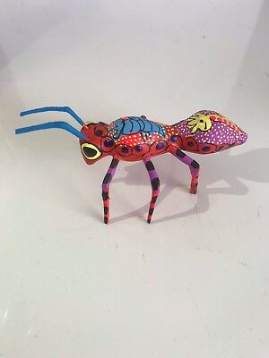 Oaxacan Carving Ant Wood Carve Folk  Animals Hand Made Alebrije Native Art