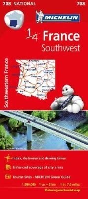 Southwestern France - Michelin National Map 708 Map 9782067200715