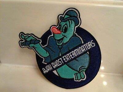 Disney Lonesome Ghosts Ajax Exterminators Patch Ghostbusters Embroidered Badge