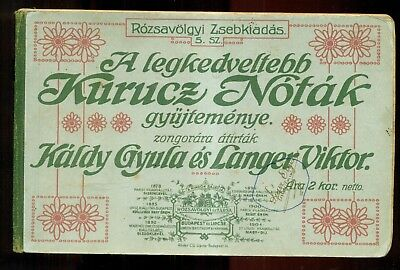1905 Budapest, Hungary Most Beloved Music for the Piano Booklet