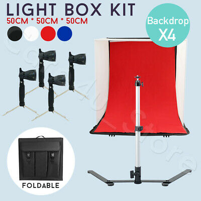 Photo 2x135W Softbox Continuous Lighting Photography Soft Box Light Stand Kit UK