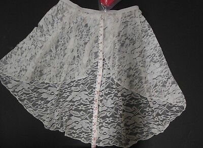 NWT Lace pull on Ballet skirt long  Main Street dancewear White Small adult